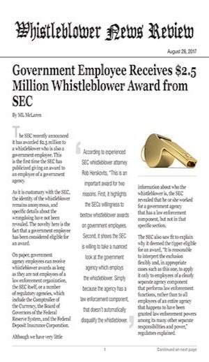 whistleblower news