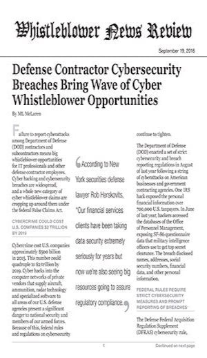defense contractor cybersecurity